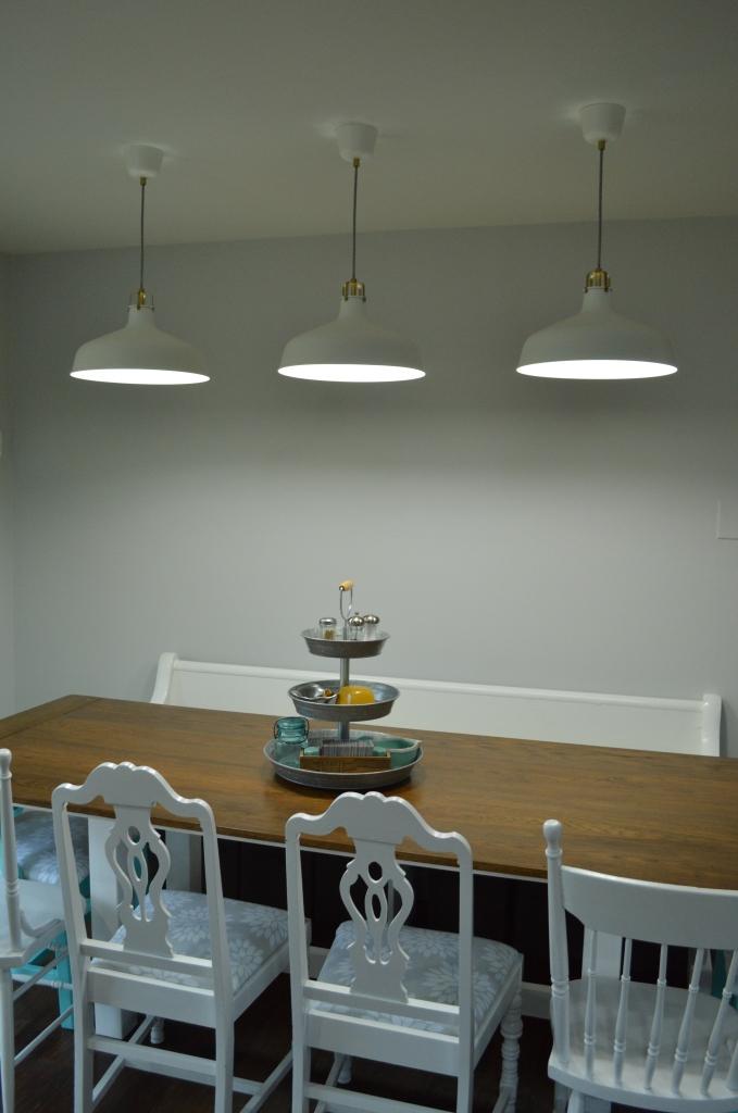 dining table pendant lights night