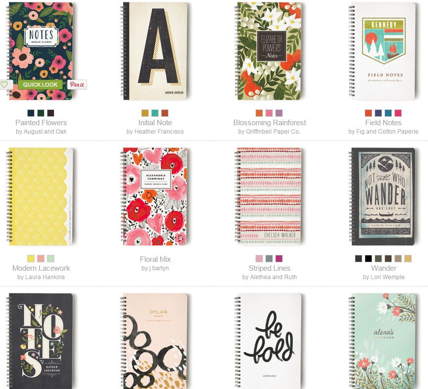 minted notebooks snip