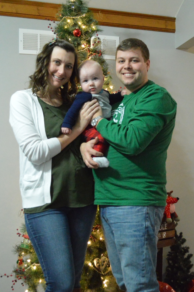 Family Photo Christmas at home