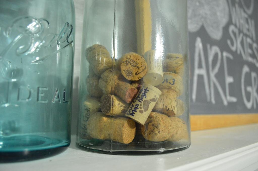 wine cork memory jar