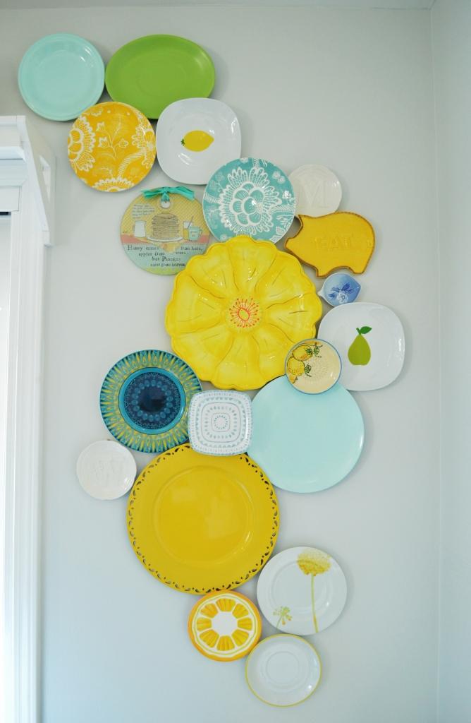 Kitchen Plate Wall Update 2