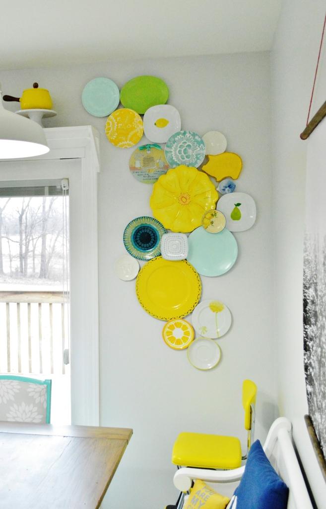 Kitchen Plate Wall Update 8