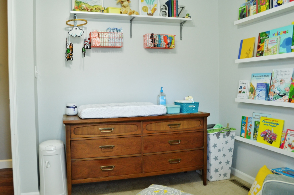 Nursery cloth diaper changing station