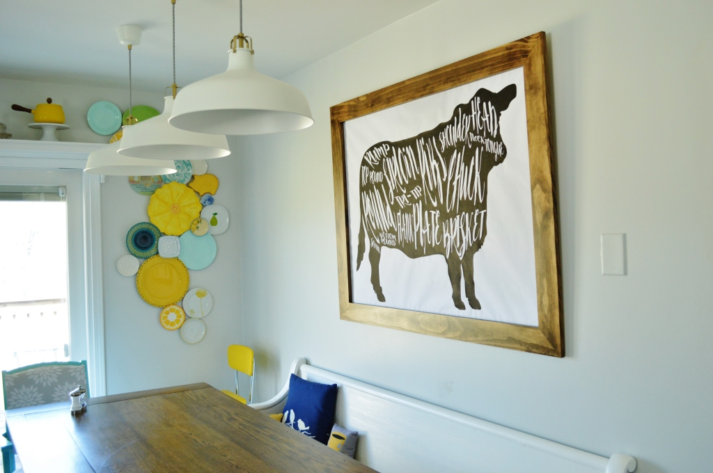 DIY Cow Beef Butcher Art Print Diagram 3