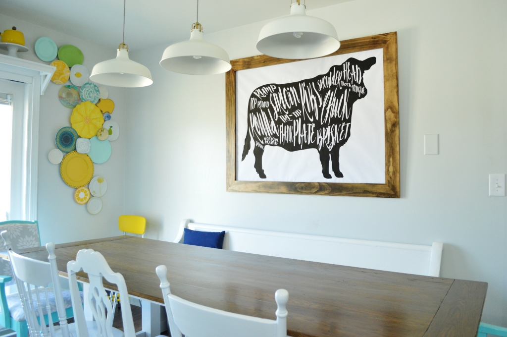 DIY Cow Beef Butcher Art Print Diagram 9