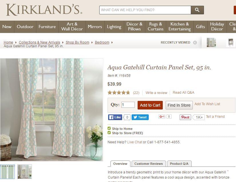 bedroom curtains kirklands
