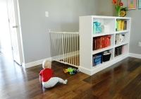 Baby gate installed on top of stairs Will crawling