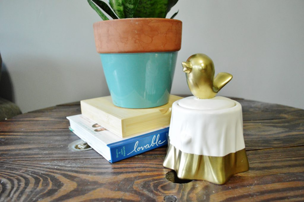 DIY Gold Accented Candy Dish 2