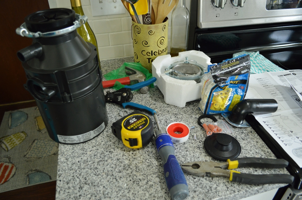 Installing garbage disposal in farmhouse sink prep
