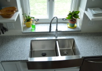 New garbage disposal in farmhouse sink 2