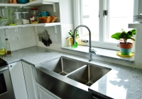 New garbage disposal in farmhouse sink 3