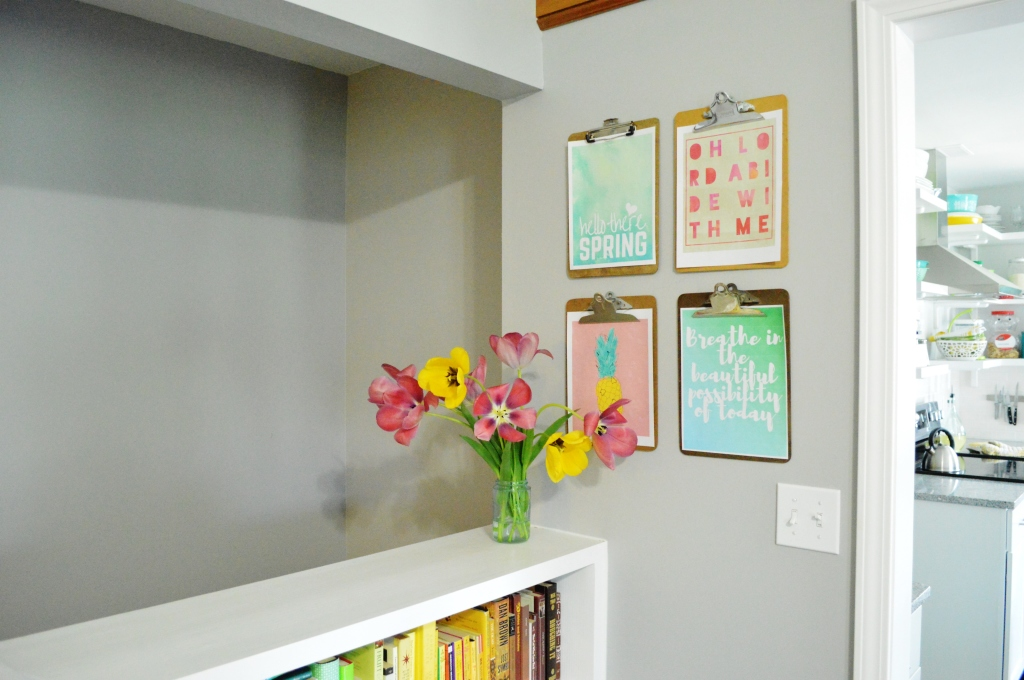 Spring Clipboard Wall