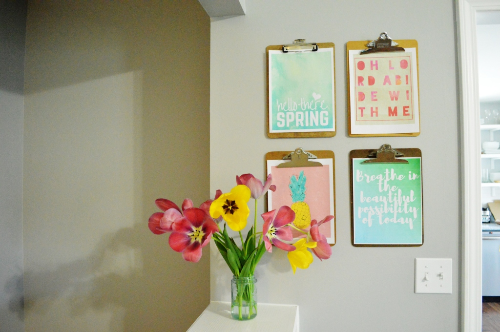 Spring Clipboard Wall 2