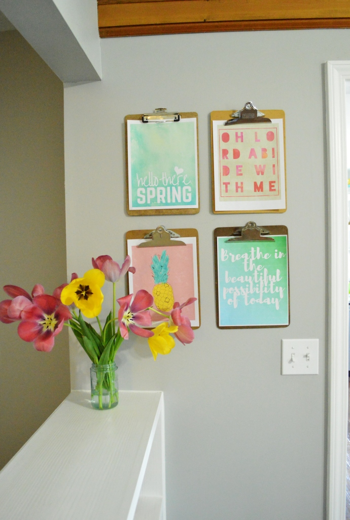Spring Clipboard Wall 3