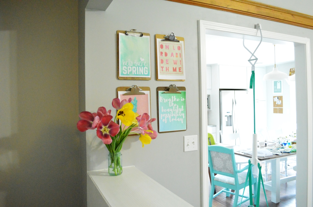 Spring Clipboard Wall 4