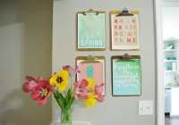 Spring Clipboard Wall 5
