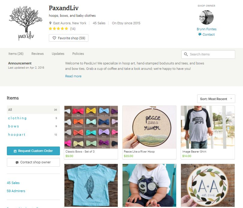pax and liv shop screenshot