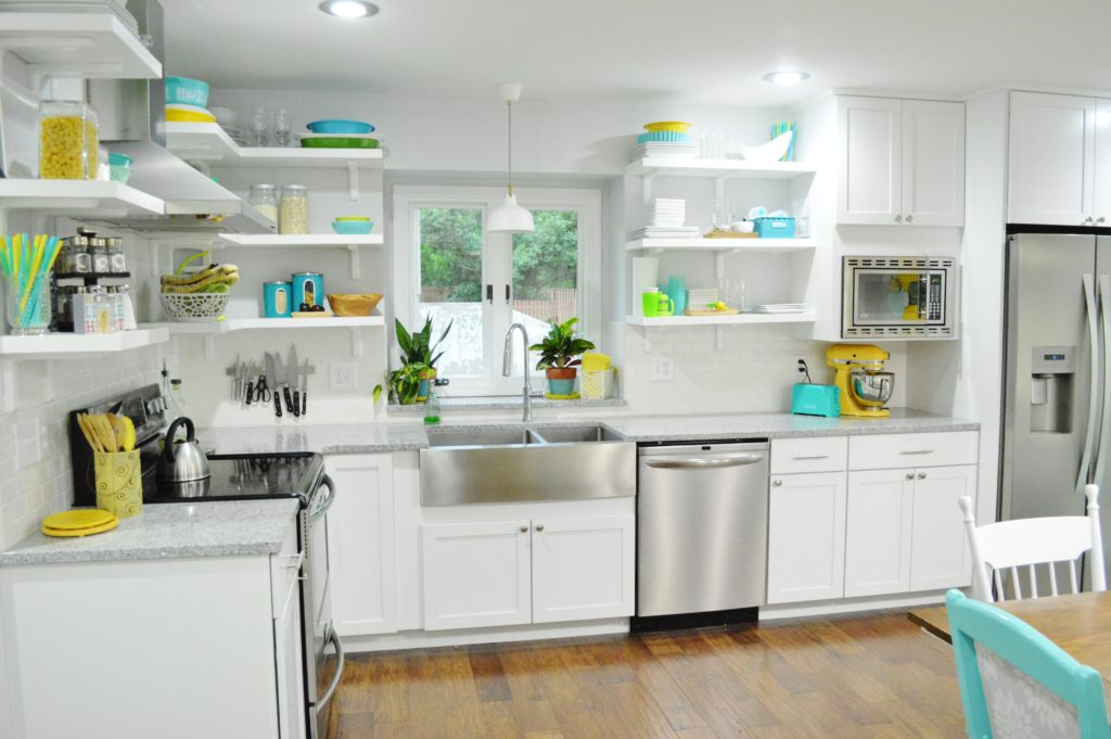 Finished White Kitchen Renovation