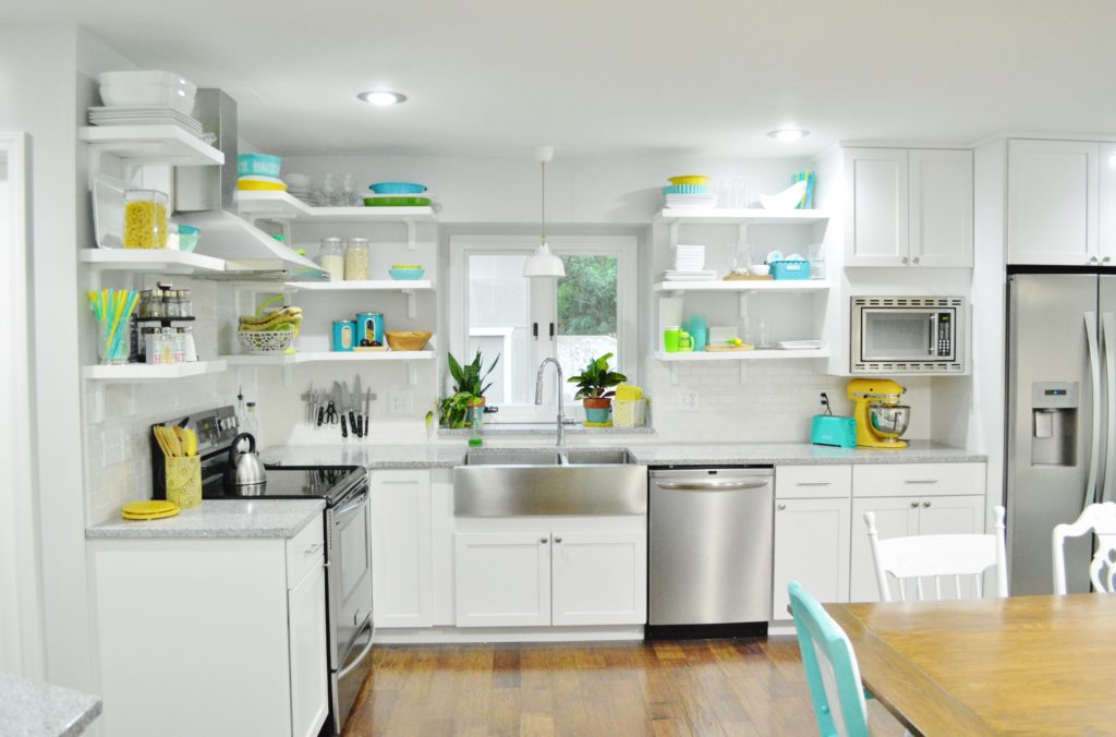 Finished White Kitchen Renovation 2