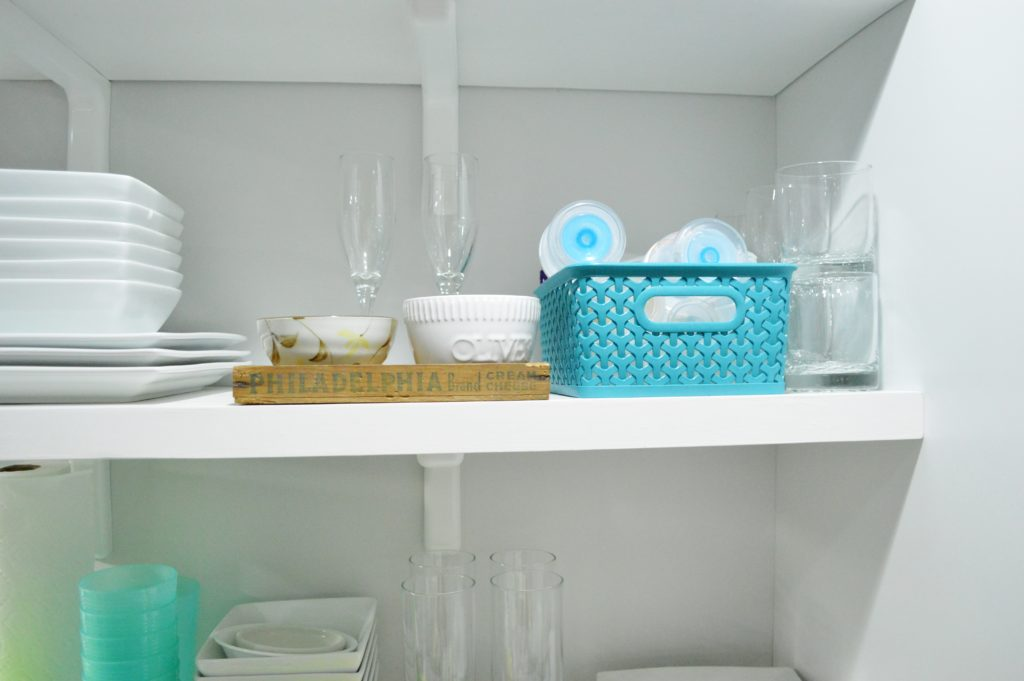 Finished White Kitchen Renovation with DIY custom open shelves 5