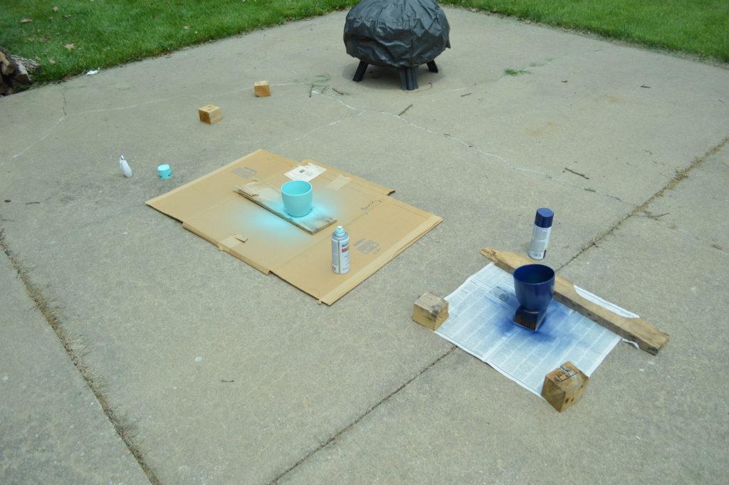 Memorial Day Weekend Spray Painting