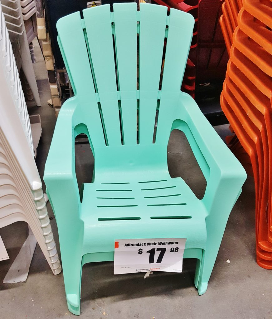 New Plastic Adirondack Deck Chairs From Home Depot