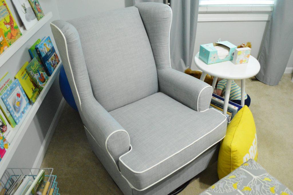 New Modern Gray Nursery Glider From Target 2