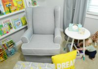 New modern gray nursery glider from target