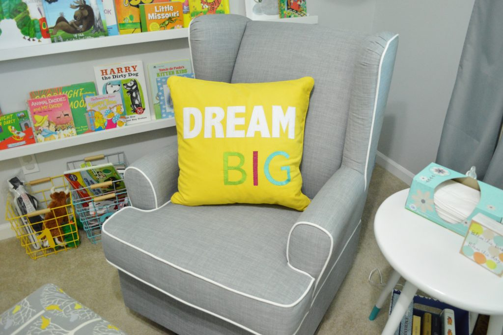 New modern gray nursery glider from target for gender neutral nursery theme 6