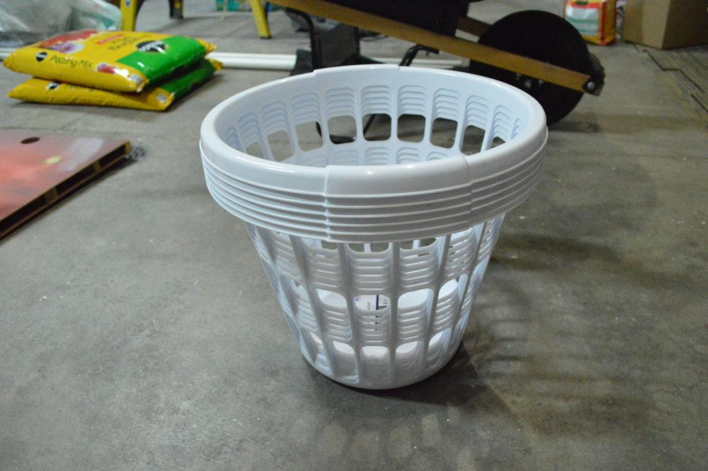 strawberry planter laundry basket