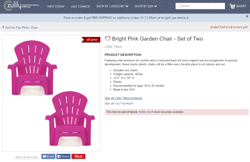 Baby deck chairs zulily