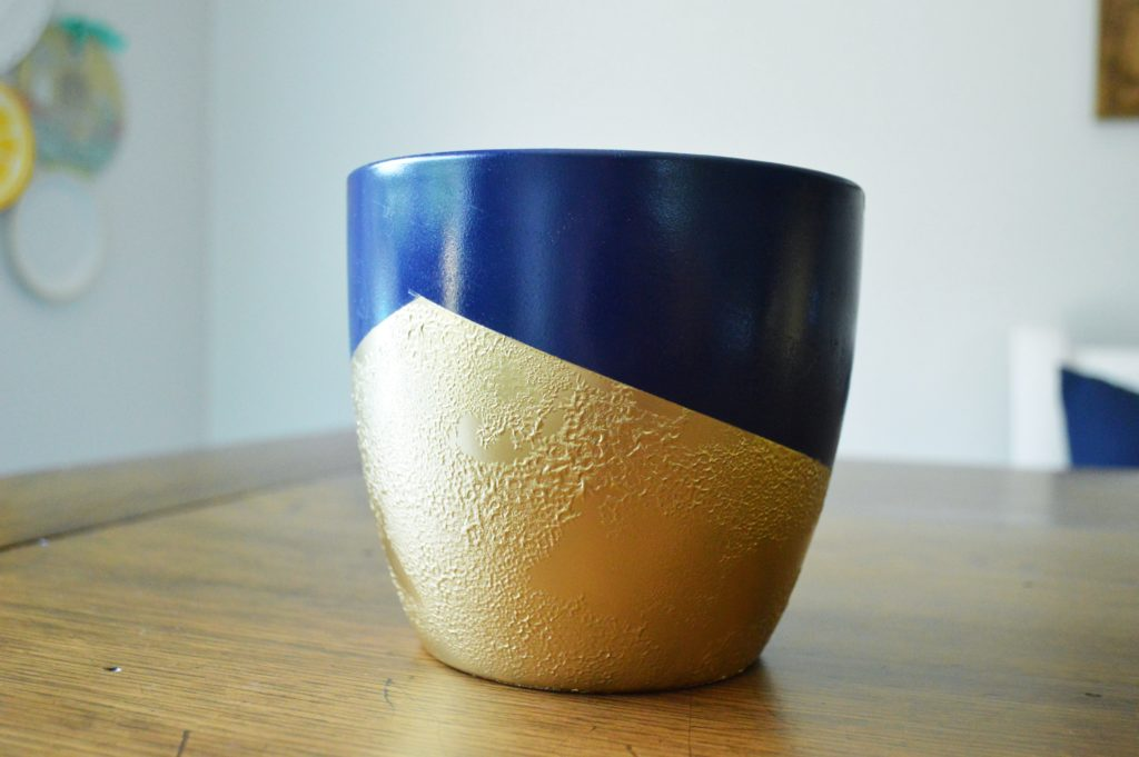 Bubbled Textured  Gold Spray Paint Finish