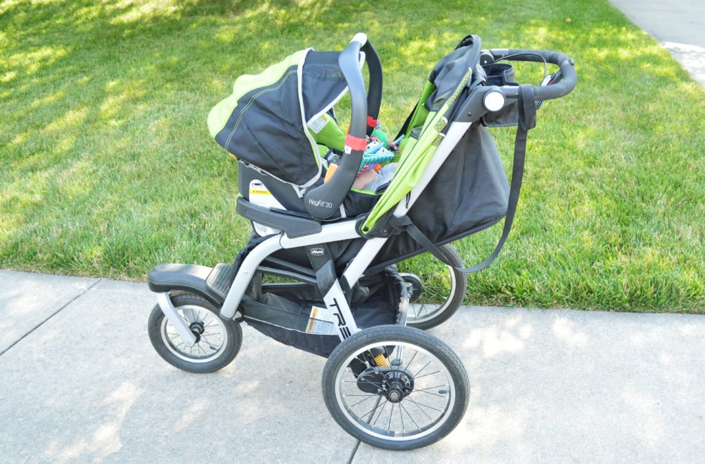 Chicco Activ3 Jogging Stroller Review with Infant Carrier