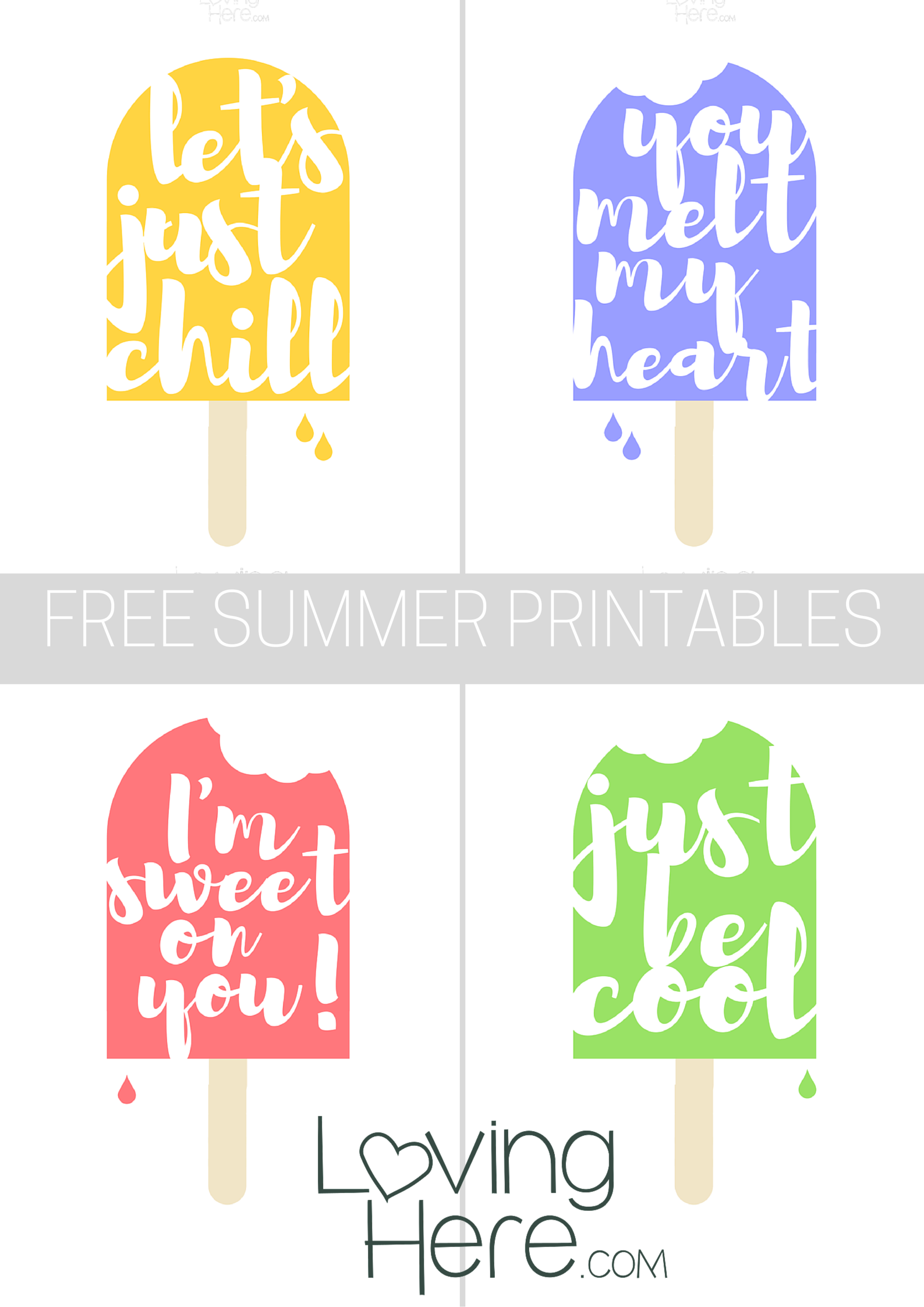 photo relating to Popsicle Printable referred to as Free of charge Summer season Popsicle Printables - Freebie FriYAY - Loving In this article