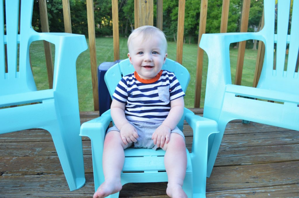 Turquoise Baby Deck Chair Will
