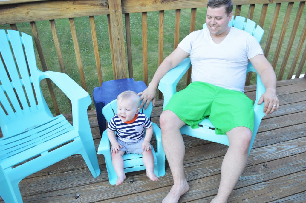 Turquoise Baby Deck Chair Will and Wyatt