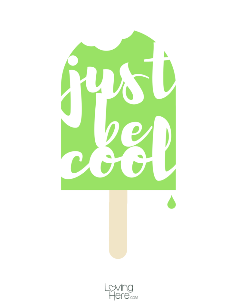 just be cool popsicle free summer printable