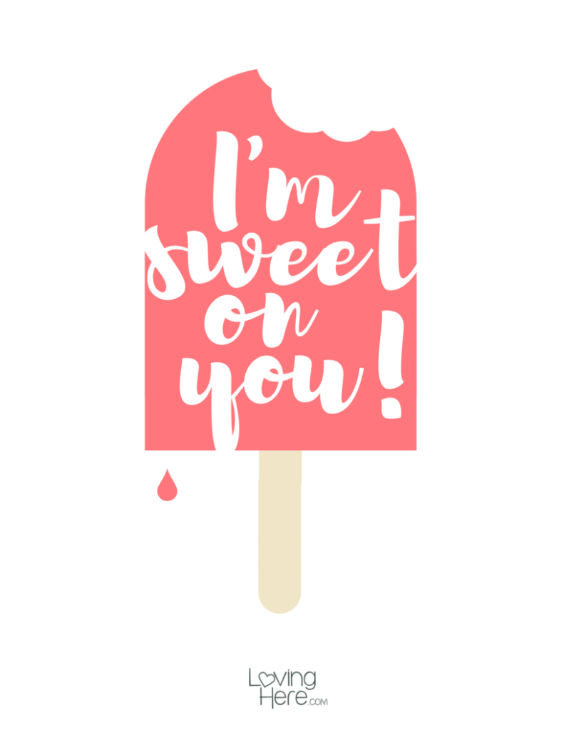 sweet on you popsicle free summer printable
