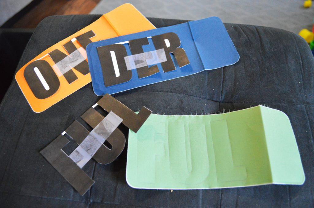 ONEderful DIY custom first birthday onesie iron on stencil 2