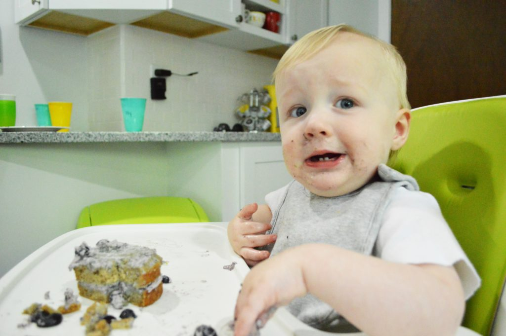 Will first birthday healthier blueberry cake smash 3