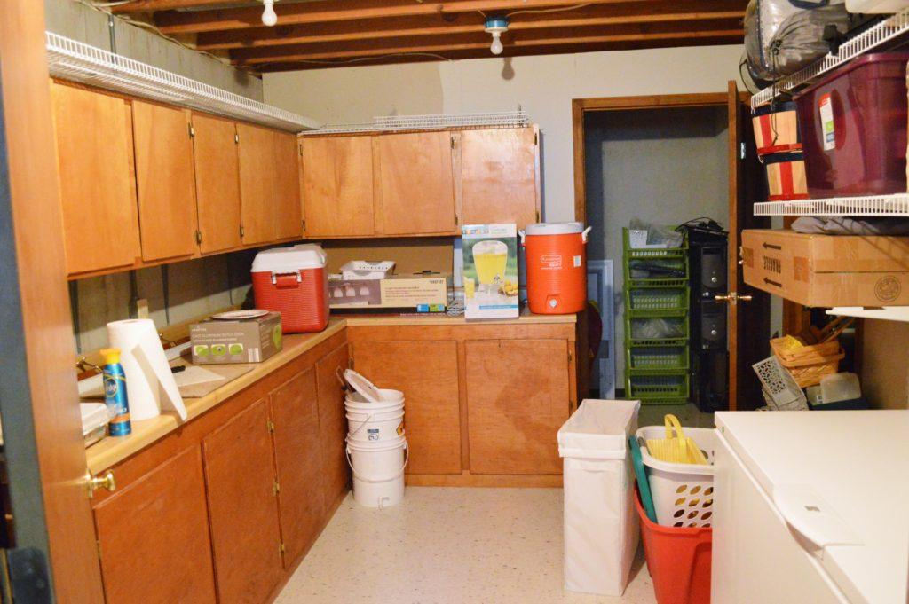 Basement Storage Room Mess