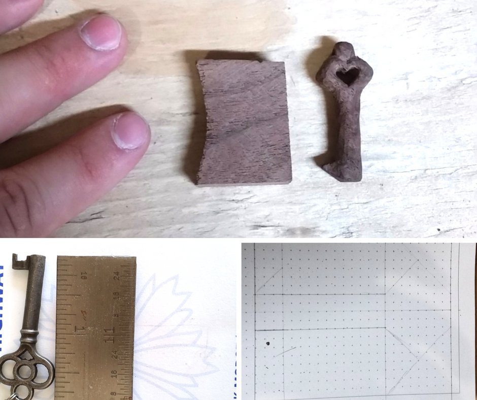 DIY Handcarved Wooden Key Anniversary Gift