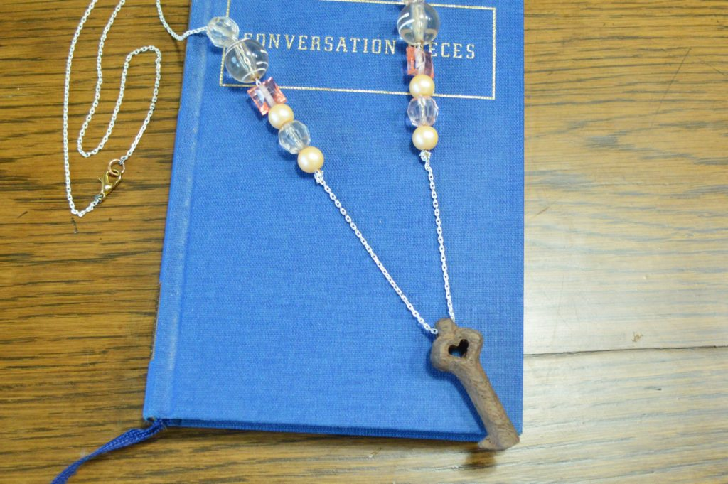 Wooden 5 year anniversary present for him hand carved wooden key necklace