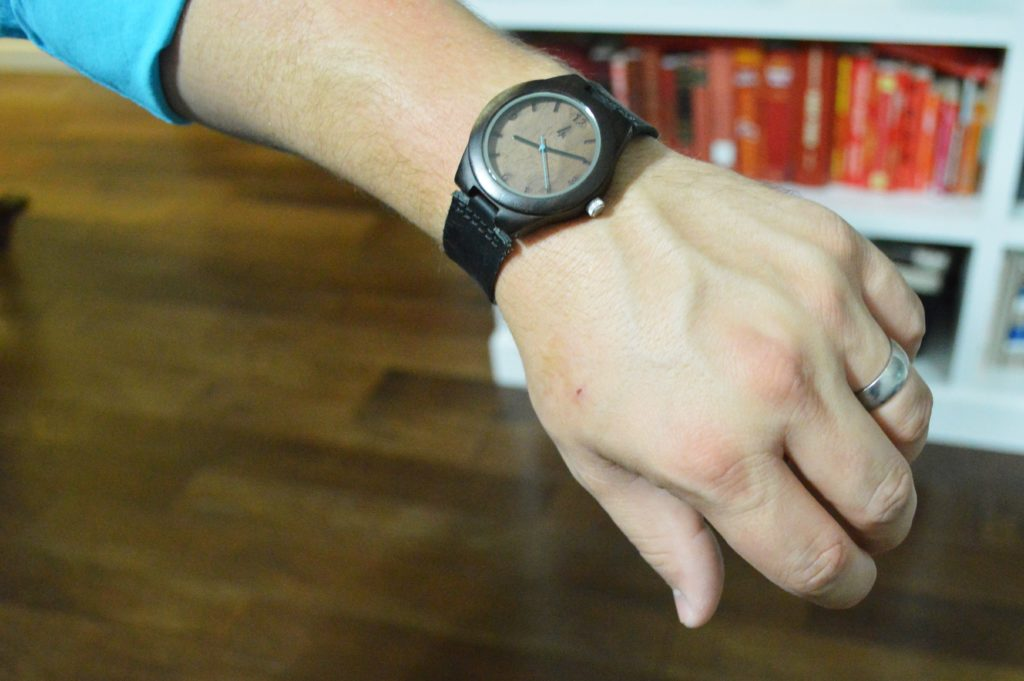 Wooden 5 year anniversary present for him real wood walnut watch