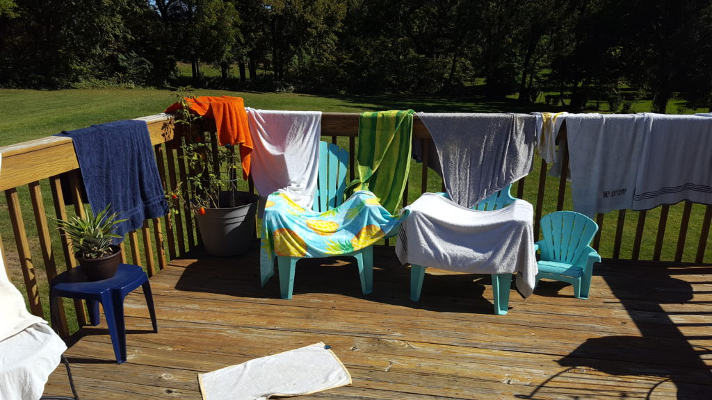 flood-towels-drying-on-deck