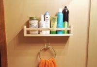 Hanging Bathroom Ikea Spice Rack Hack Toiletries Shelf 2