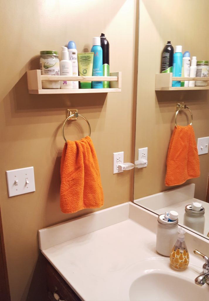 Hanging Bathroom Ikea Spice Rack Hack Toiletries Shelf 3