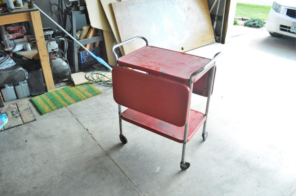 metal-rolling-cart-makeover-before