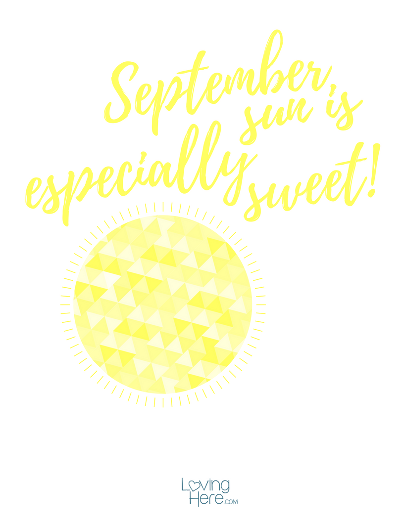 September Sun Free Fall Printable