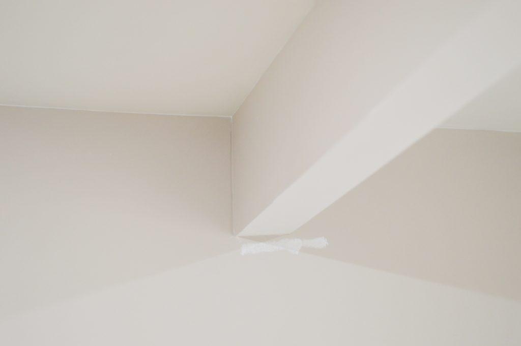 messy basement ceiling paint